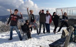 Gipfelmoshen Erzgebirge Fichtelberg