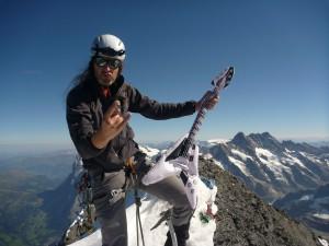Gipfelmoshen Eiger Berge Berner Oberland