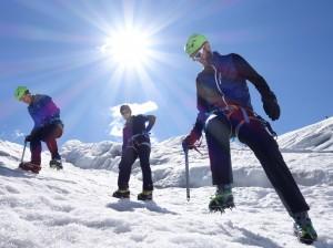 Spaltenbergung mit Bergfuehrer Ivo Meier vor der Hochtour
