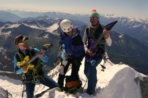 Gipfelmoshen Aiguille de Rochefort 4001m Mont Blanc Gebiet Ivo Meier